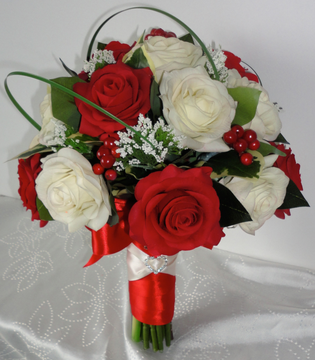 Lifelike Fresh Touch Rose Bridal Bouquet
