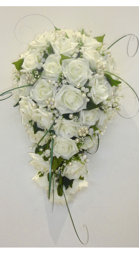 Ivory Rose & Gypsophila Bridal Bouquet