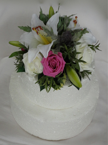 Tiger Lily, Rose & Thistle Cake Topper