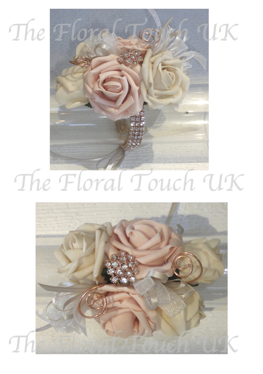 Bridesmaids And Flower S Add Style Uk Single Rose Wrist Corsage
