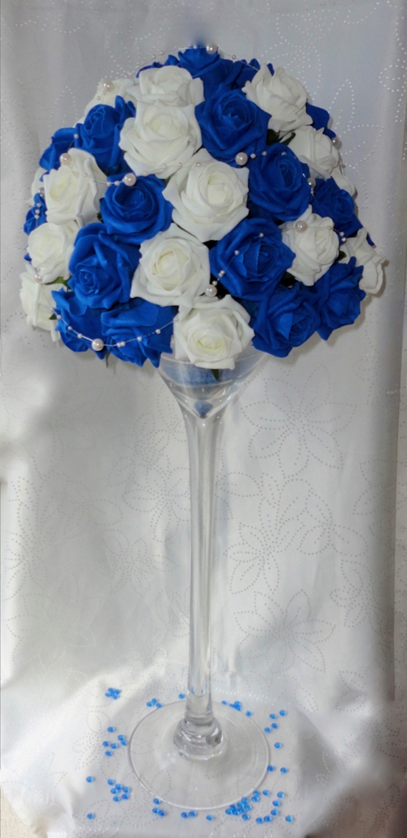 Wedding centrepiece the floral touch uk top table centrepiece martinicocktail glass rose centrepiece reviewsmspy