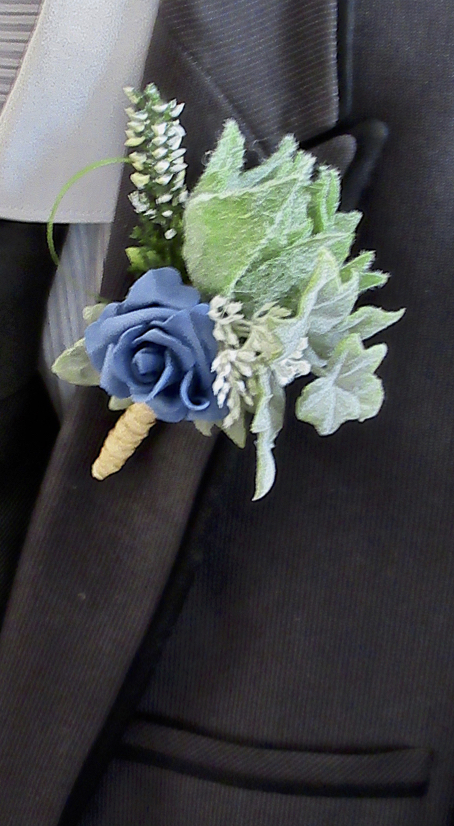 Rustic French Blue Rose Buttonhole
