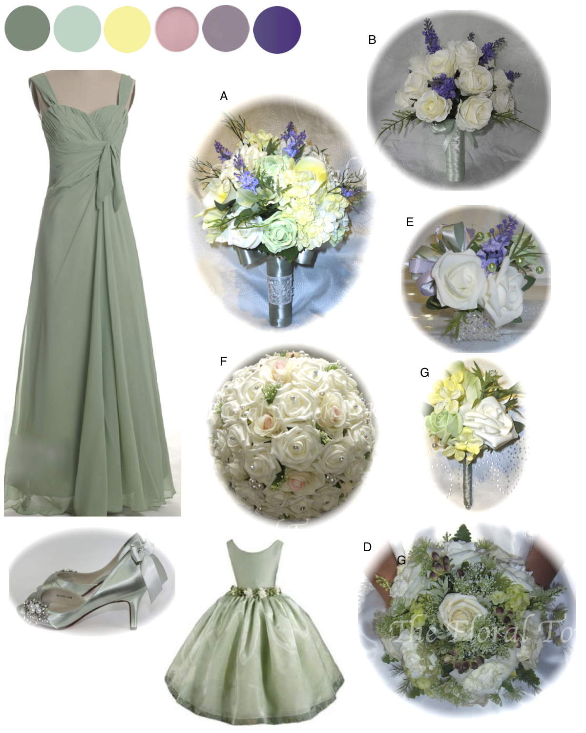 New seasons wedding colours the floral touch uk sage green bridesmaid dress ombrellifo Images