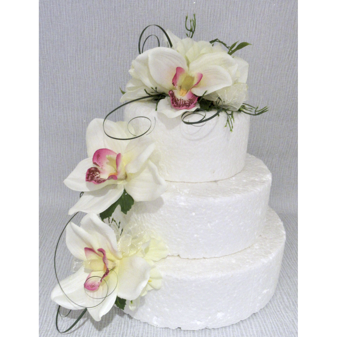 Ivory Orchid Cake Flowers