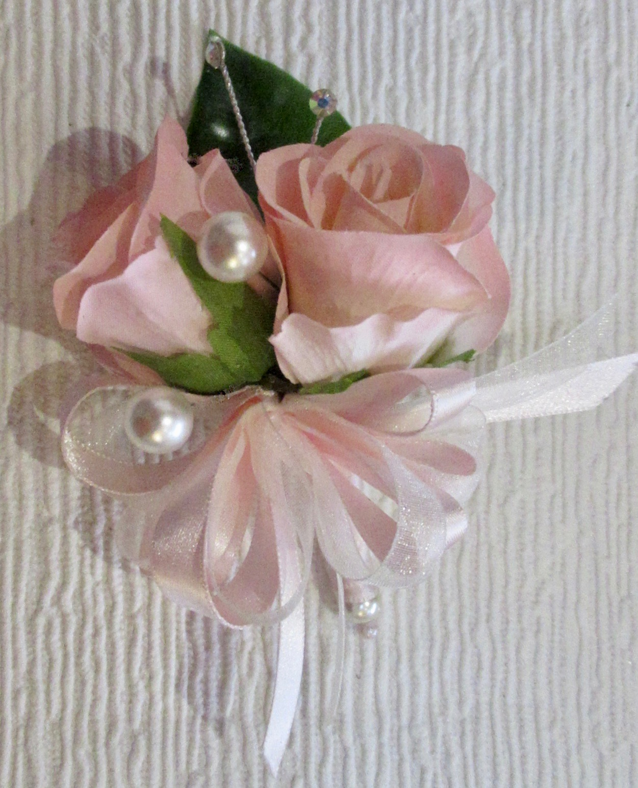 Small Pink Rose Bud Corsage
