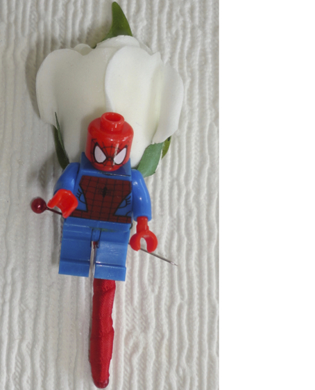Spiderman Superhero Figure Buttonhole