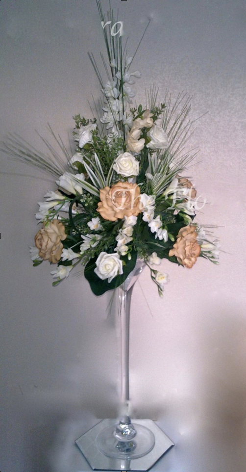 Tall Floral Centrepiece for Martini Glass Or Vase