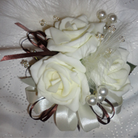 Ivory Rose Prom Corsage