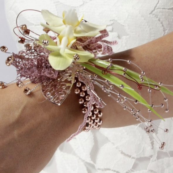 artificial flower wrist corsages