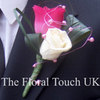 Hot Pink & Ivory Buttonhole for Weddings