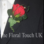 Red Rose & Ivy Buttonhole