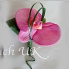 Real Touch Pink Phylaenopsis Orchid Buttonhole