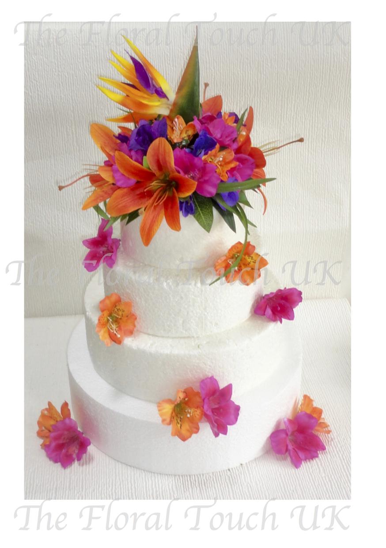 Tropical Bird Of Paradise Cake Topper