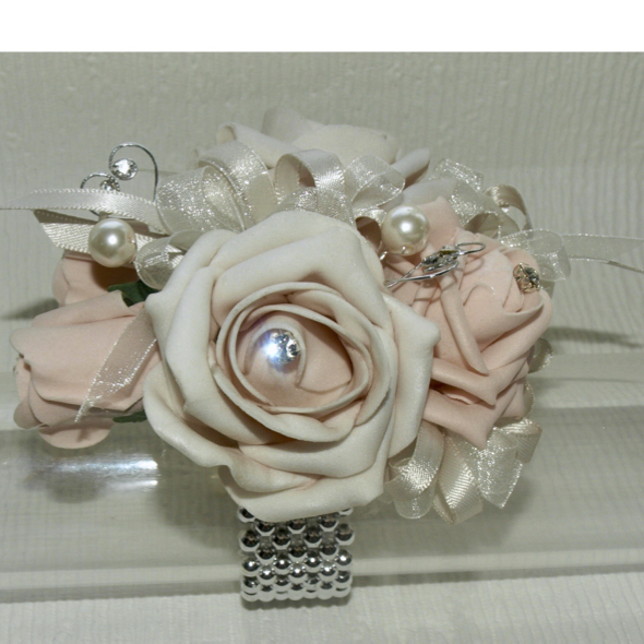 Blush & Nude Prom Corsage