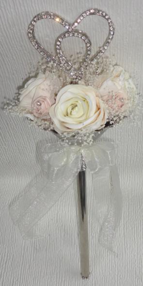 Ivory Flower Wand Bridesmaid Princess Flower Girl Rose Wedding.