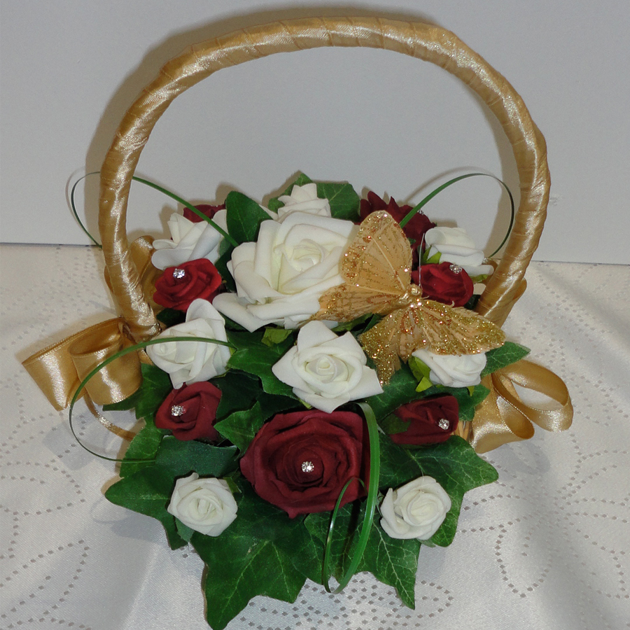 Baskets For Flower Girls The Floral Touch Uk Vintage Flower Girl
