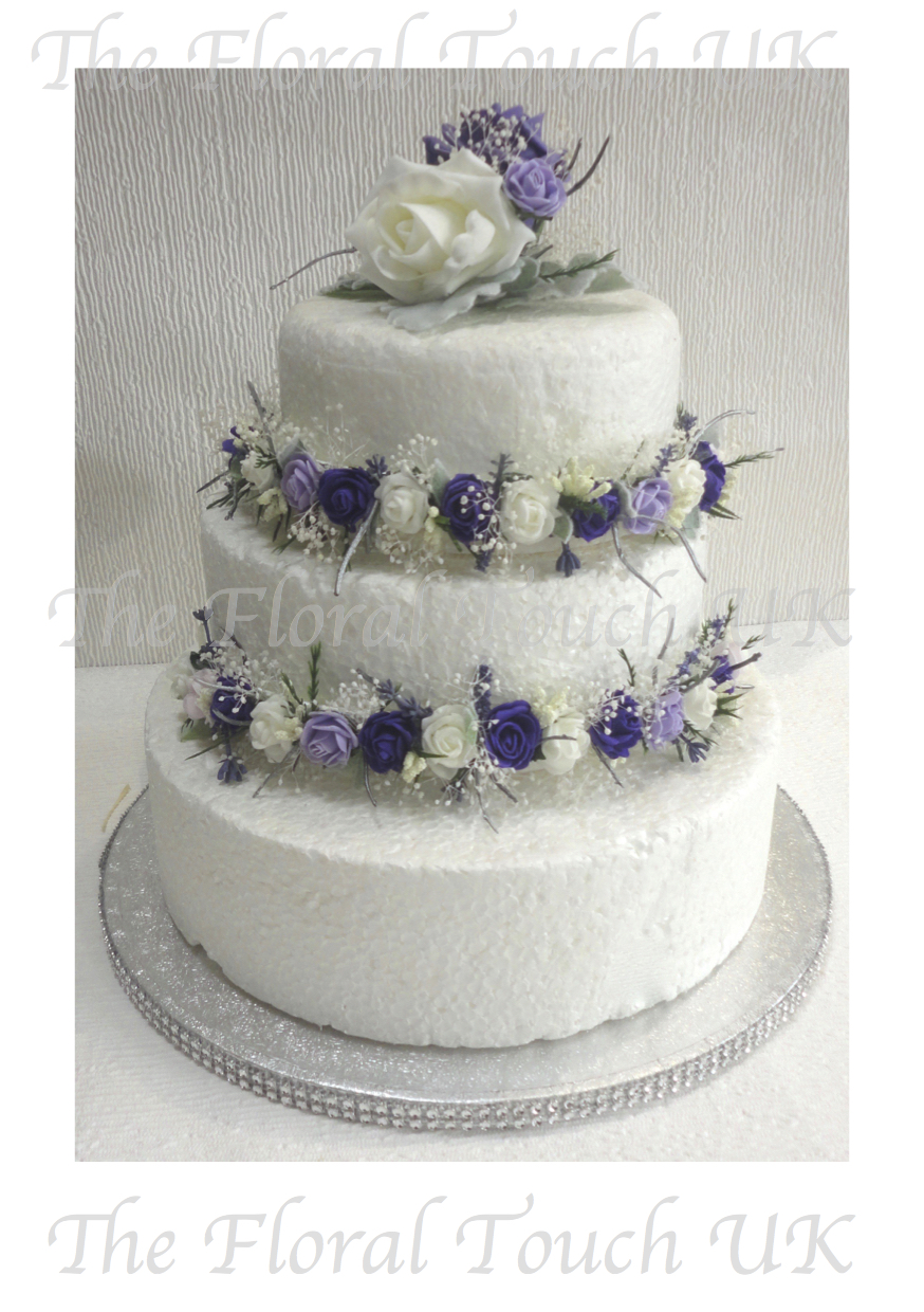 faux wedding cakes uk artificial cake flowers 14215