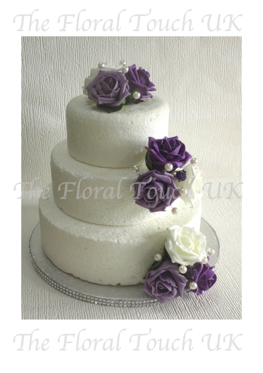 purple wedding cake decorations cake toppers the floral touch uk cake tier displays 18912