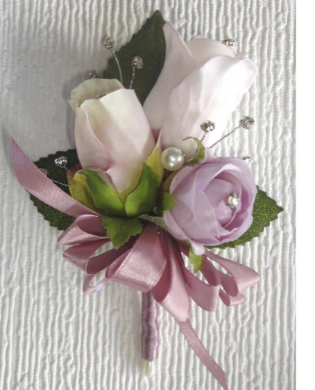 Dusky Pink & Light Pink Rose Bud Corsage