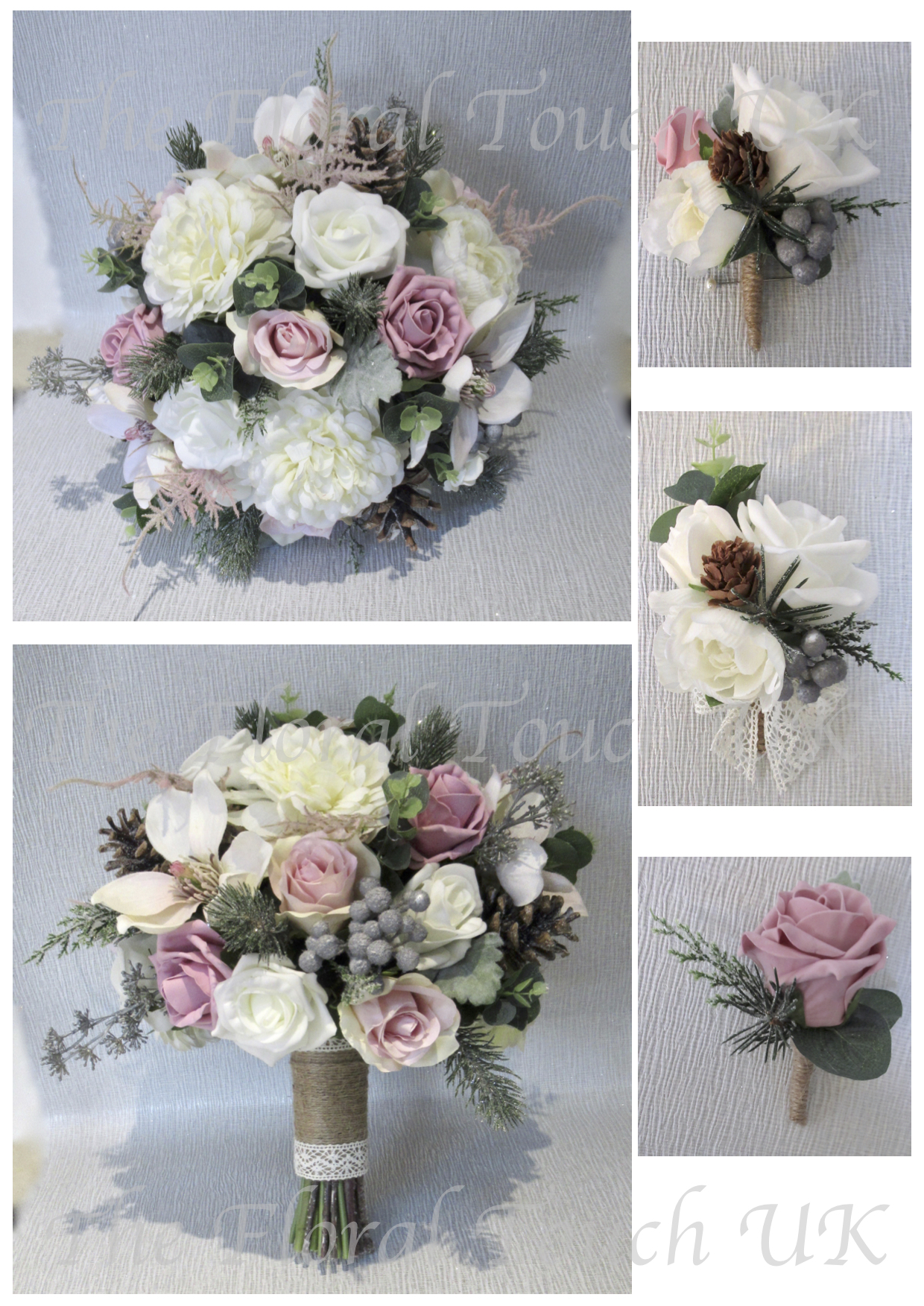 Christmas Winter Wedding Bouquets