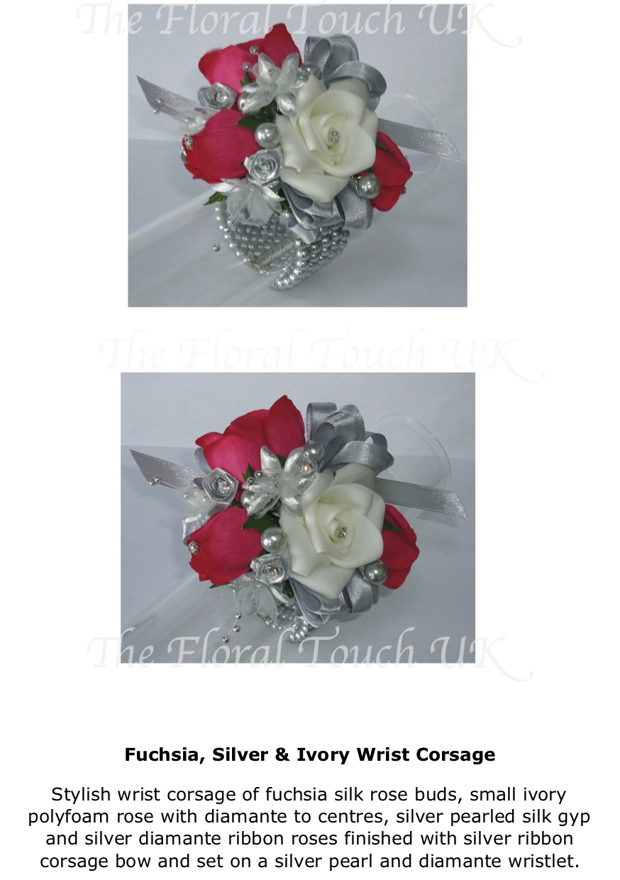 The Floral Touch Uk Silk Flower Wrist Corsages Mother Of The