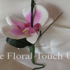 Pink & White Phalaenopsis Orchid Buttonhole