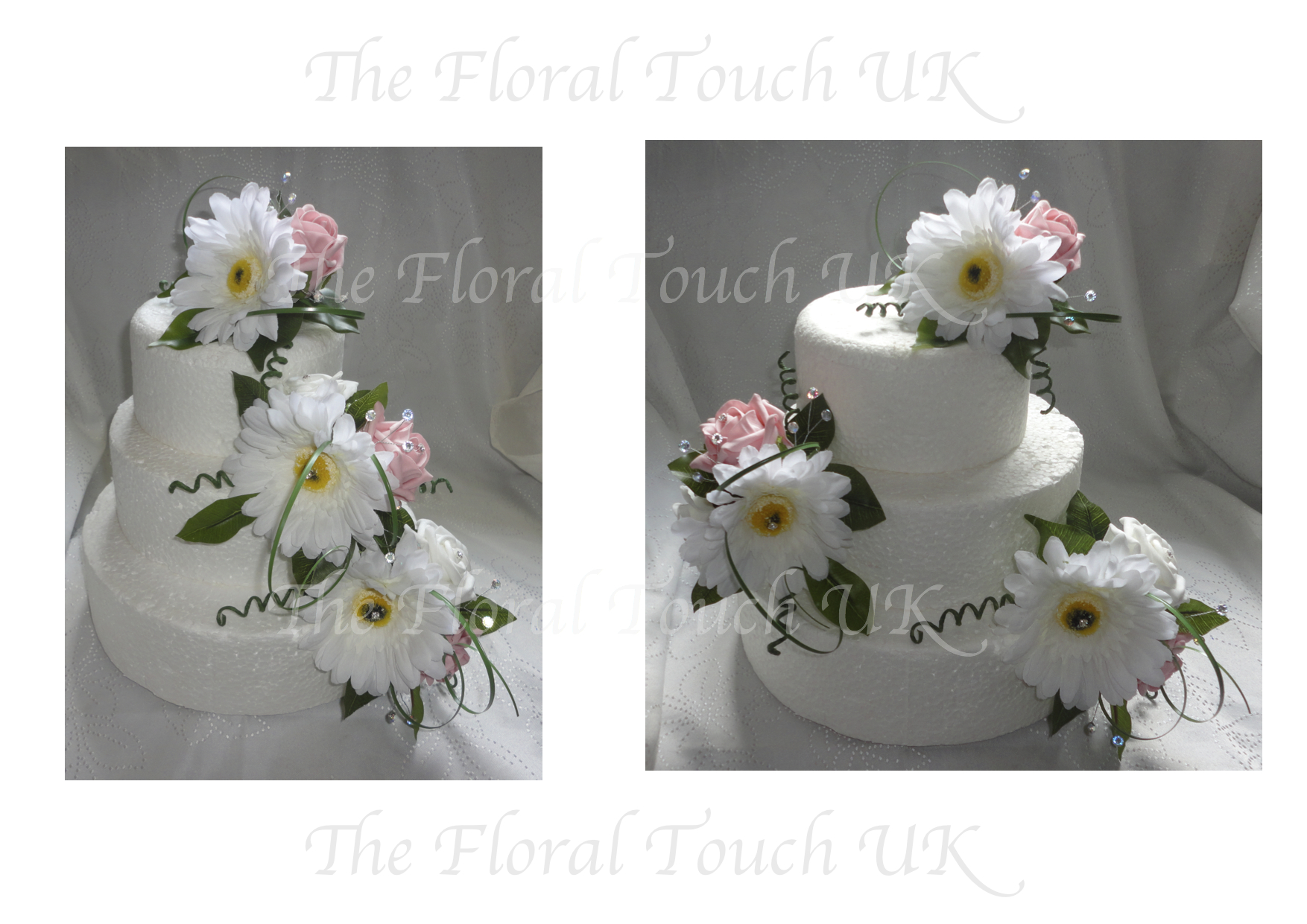 Cake toppers the floral touch uk cake tier displays gerbera rosecake tier displays mightylinksfo