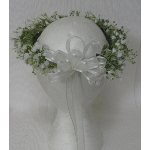 Gypsophila Flower Girl Headdress