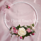 Dusky Pink, Fucshia & Ivory Flower Girl Hoop