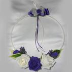 Purple & Ivory Flower Girl Hoop
