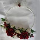 Red & Ivory Flower Girl Hoop