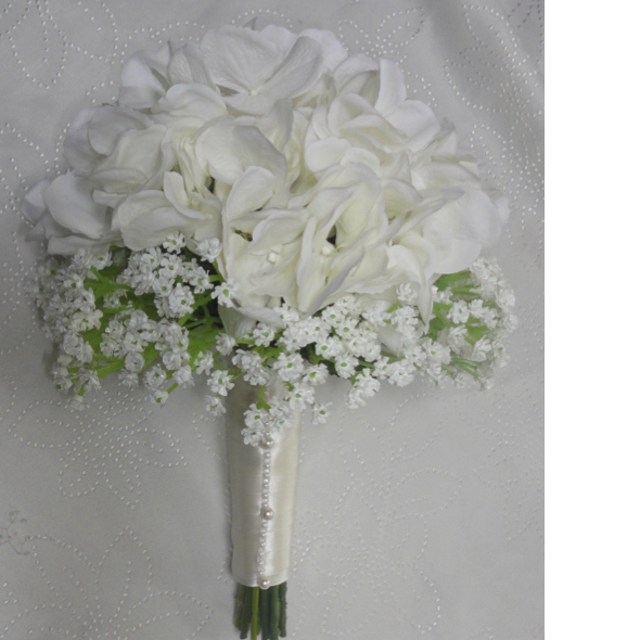 Hydrangea & Gypsophila Wedding Bouquet