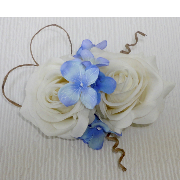 Fresh Touch Rose & Blue Hydrangea Hair Clip