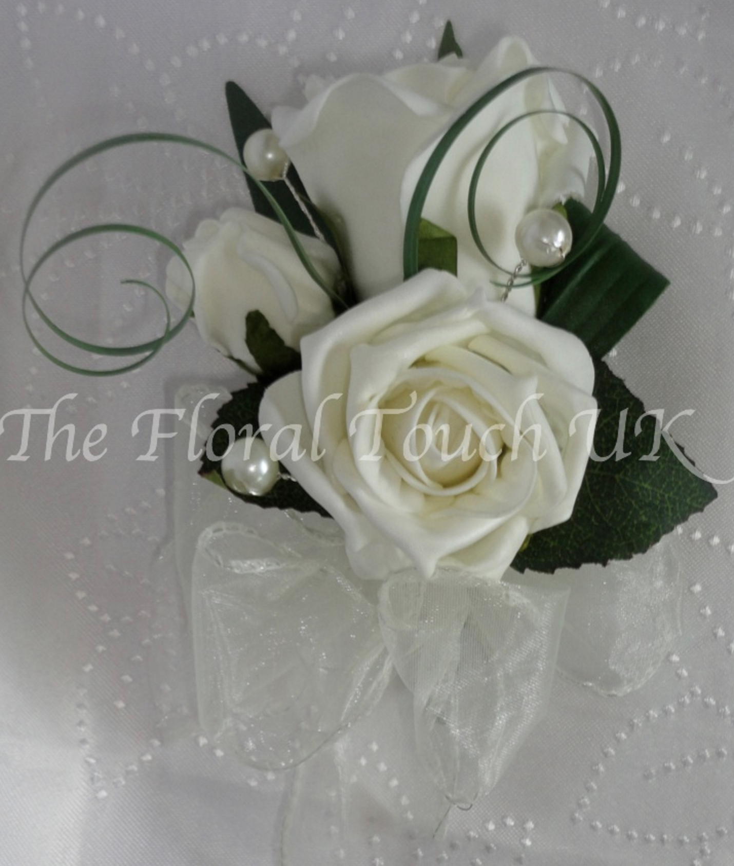 Ivory Rose & Pearl Corsage