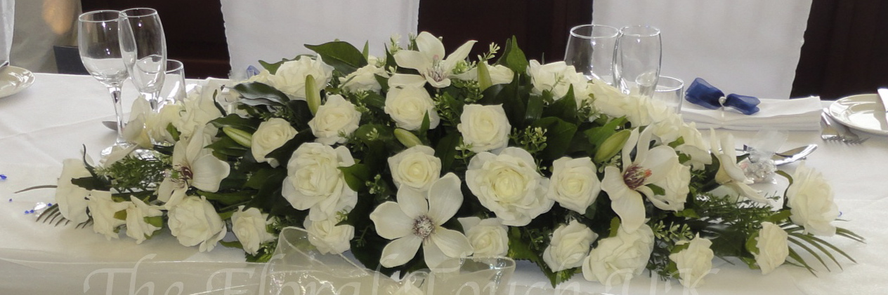 Rose & Magnolia Wedding Centrepiece