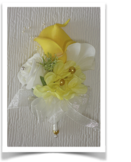 Lemon Real Touch Calla lily Corsage