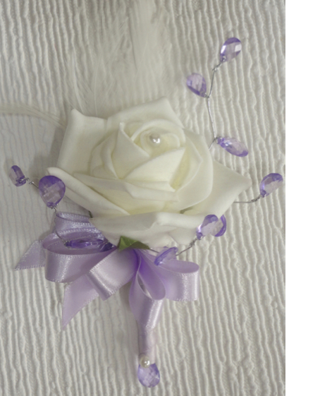 Lilac & Ivory Pin On Corsage