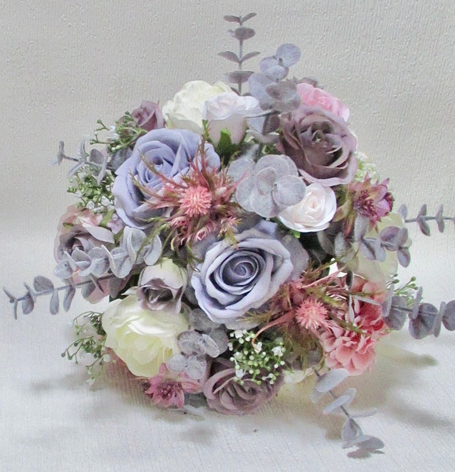 Beautiful pink, mauve, blush & ivory bridal bouquet