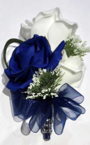 Fresh Touch Midnight Blue Rose Corsage