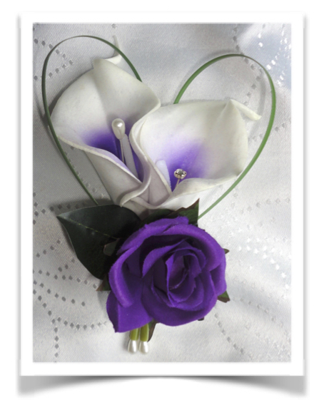 Real Touch Picasso Calla Lily Buttonhole