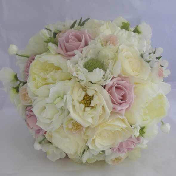 Pink, Cream & Ivory Romantic Wedding Bouquet