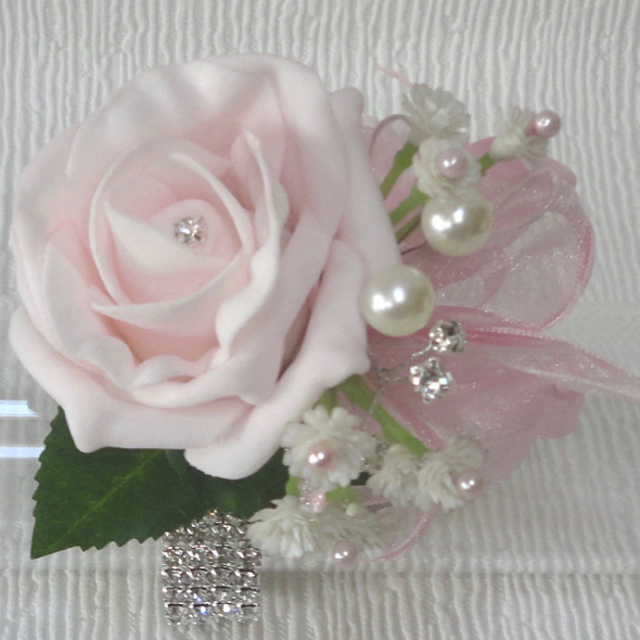 Pink Rose Prom Corsage