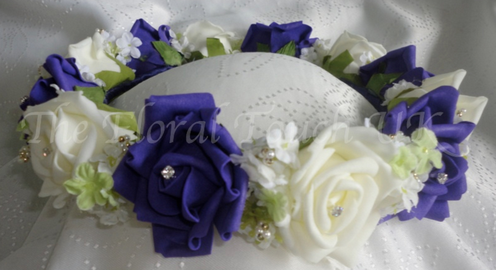 Purple, Lime & Ivory Bridesmaid Headdress