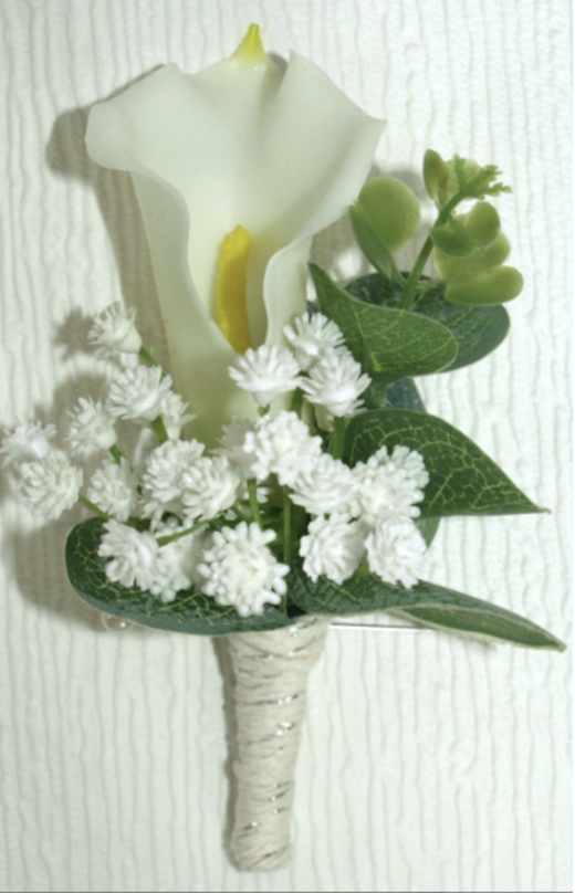 Real Touch Calla Lily & Gypsophila Buttonhole