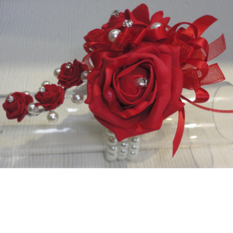 Red Trailing Rose Wrist Corsage