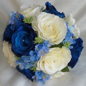 Royal Blue & Ivory Bridesmaid Bouquet