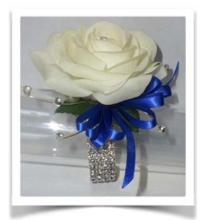 Fresh Touch Ivory Rose with diamantes