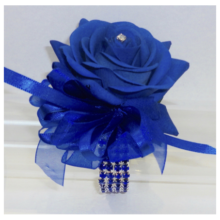 Royal Blue Fresh Touch Rose Wrist Corsage