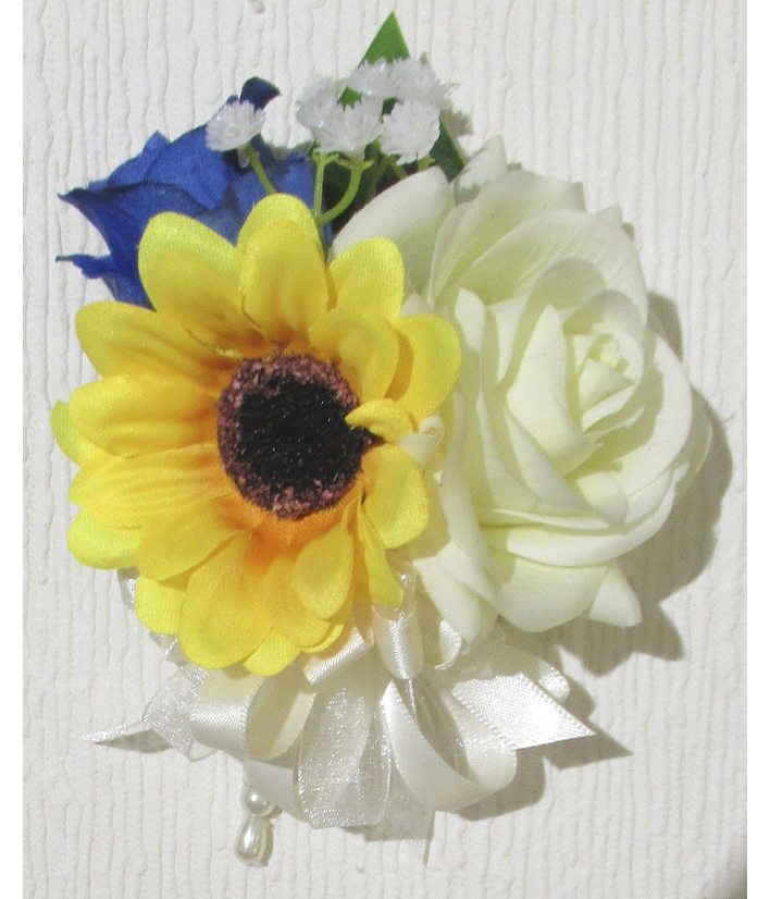 Sunflower Pin On Corsage for Weddings