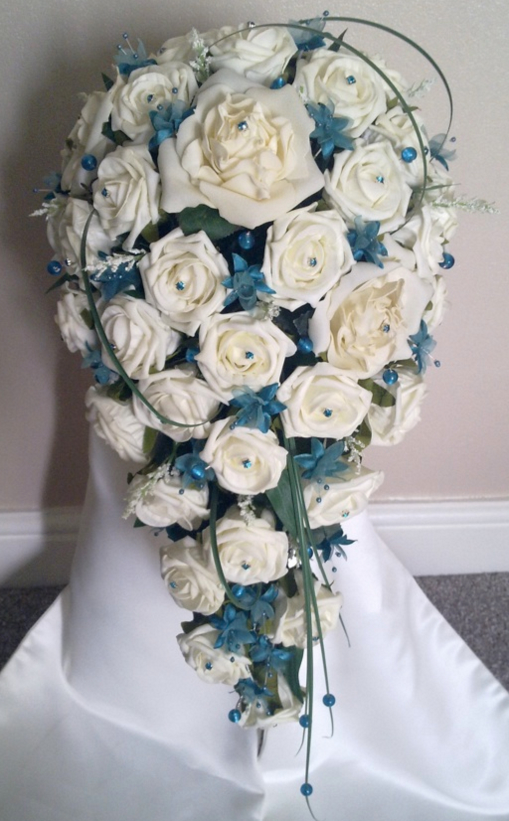 Teal & Ivory Wedding Bouquet